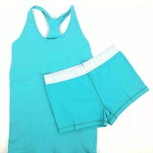 Ivivva Aqua Shorts and Shirt Combo